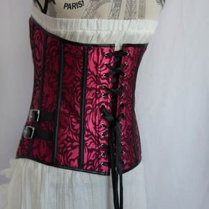 Other - Pink and Black Steampunk Corset